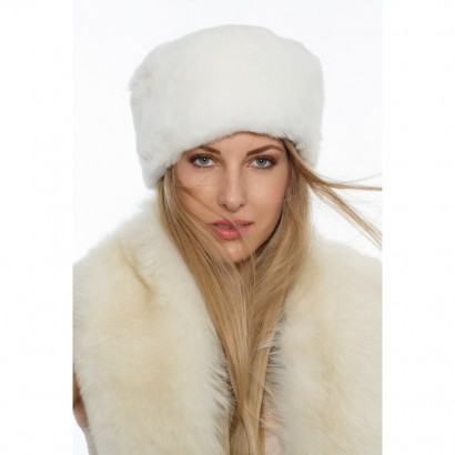 FUR HAT WOMEN WHITE