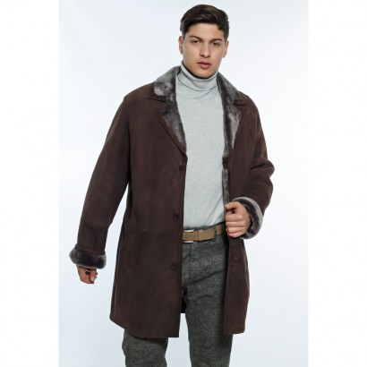 MENS SHEEPSKIN BROWN