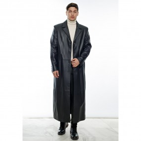 MEN LEATHER LONGDOWN COAT