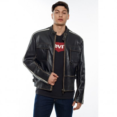 MEN LEATHER JACKETBROWN