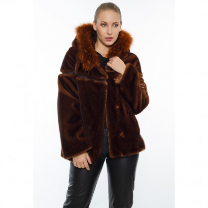 FAUX FUR PARKA VISON TYPE WOMEN
