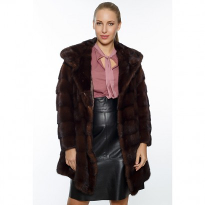 FUR VISON/MINK WOMEN BROWN