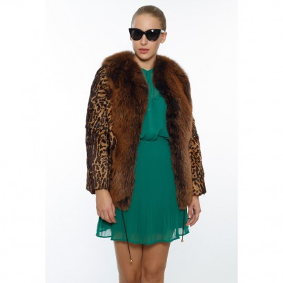 FUR WOMEN LEOPARD CARDIGAN