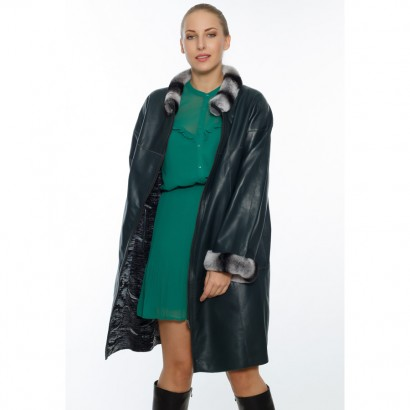 DOUBLE FACE COAT WOMEN BRITISH GREEN