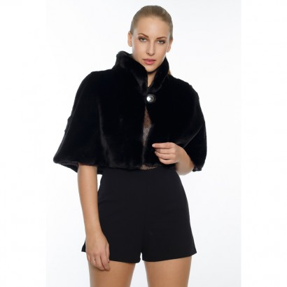 WOMEN ETOLLE  FAUX FUR BLACK