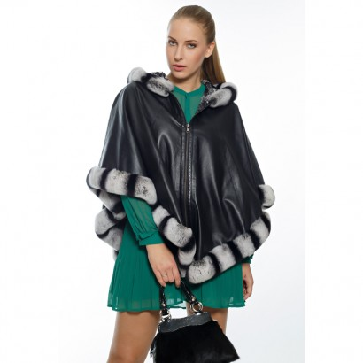 WOMEN LEATHER DOUBLE FACE CAPE ETOLLE